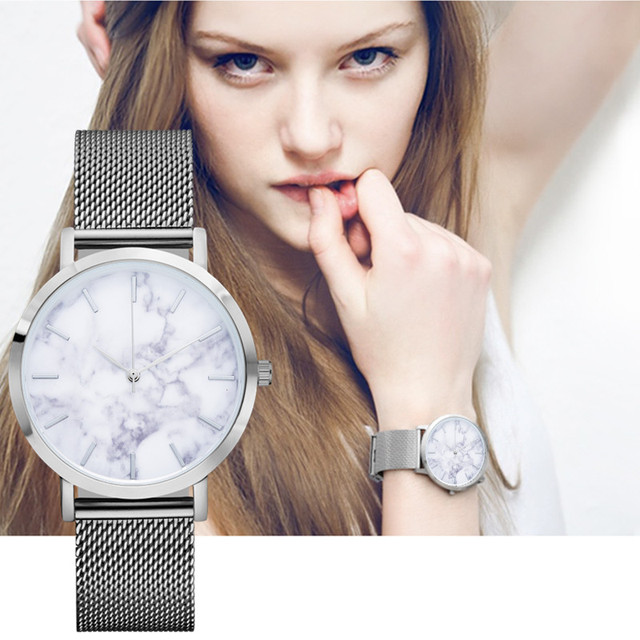 Ginebra Correa Vintage Retro Remache Trenzado de Cuero Genuino ultra delgado Reloj Reloj de Pulsera de Cuarzo-reloj minimalista Mujeres De Mármol