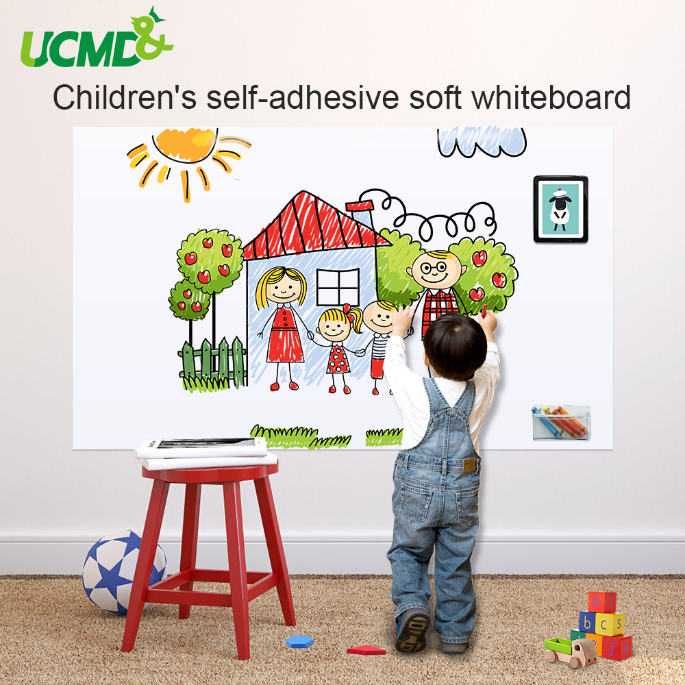 Drawing White Board Toy Self Adhesive Writing Painting Whiteboard Children Early Learning Education Drawing Toys Gift For Kids