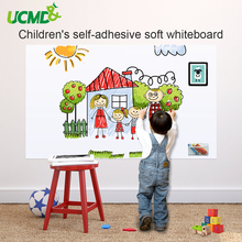 купить Drawing White Board Toy Self adhesive Writing Painting Whiteboard Children Early Learning Education Drawing Toys Gift For Kids по цене 728.6 рублей