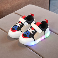 Hotsale Spring Autumn Glowing Girls Sneakers Kids Basket Led Children Lighting Shoes Boys illuminated Luminous Sneaker C433(China)