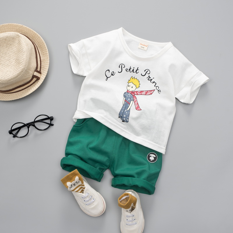 1c3457554 Meninas do bebê Conjuntos de Roupas de Marca Menino Le Petit Prince ...