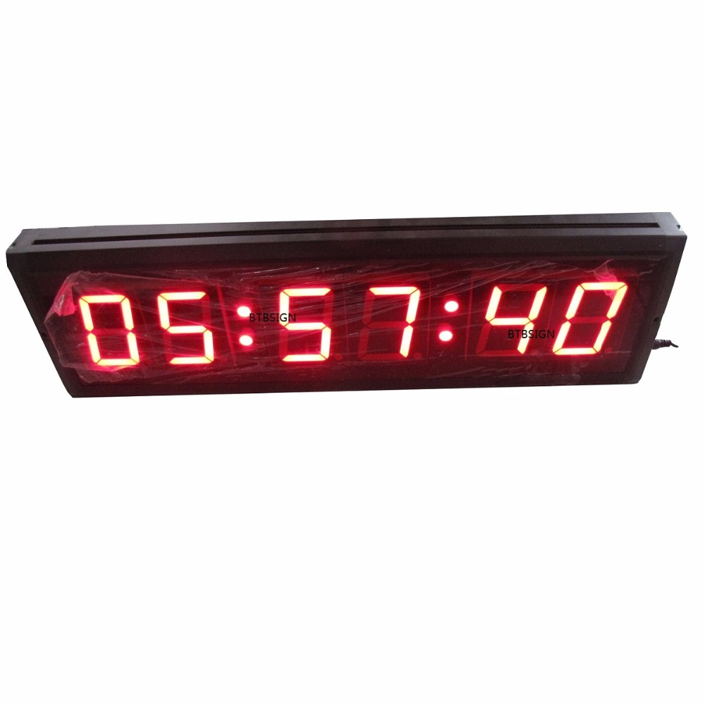 US $120 0 |4inch MM:SS:CC LED Countdown Clock Hundreths of a Second  Millisecond Countdown Timer Jumbo Stopwatch-in Wall Clocks from Home &  Garden on