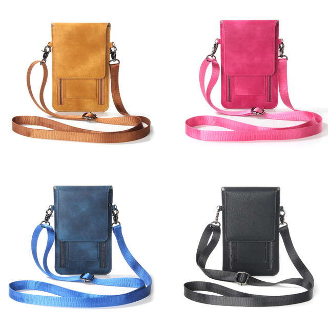 4807c2a96664 Leather Man Woman Phone Bag Headset Package Lady Girl Boy Wallet Waterproof Male  Backpack Fashion Travel