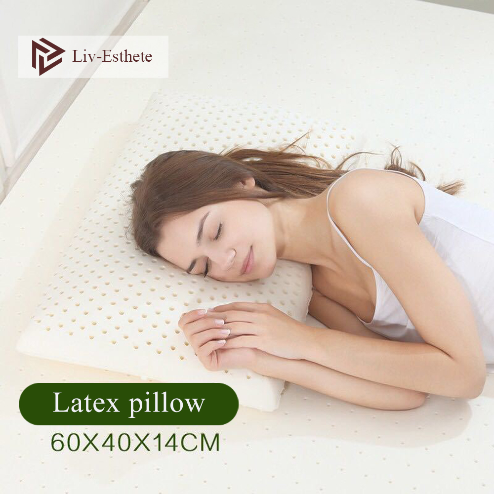 Liv-esthete thaïlande pur 100% Latex naturel oreiller correctif cou protéger vertèbres soins de santé orthopédique oreiller rebond lent