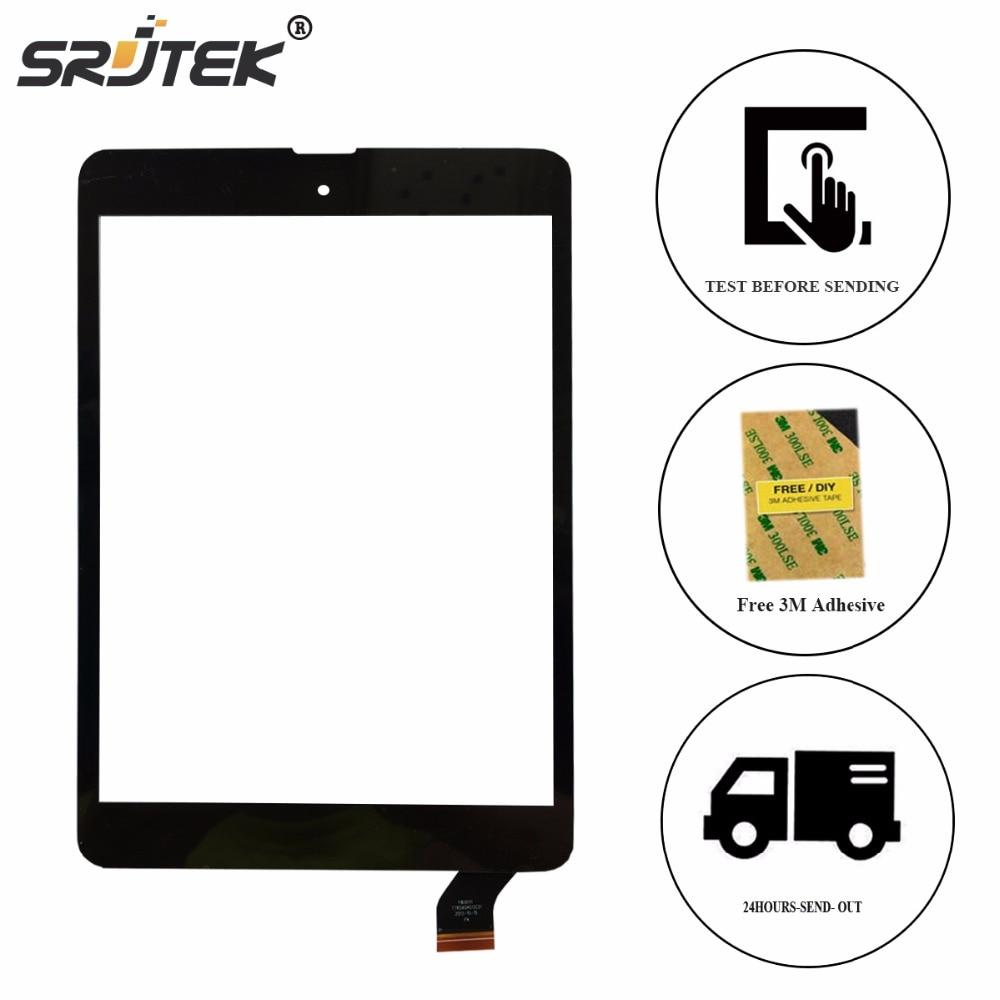 Srjtek New 7.85 For TeXet X-pad NAVI 8 3G TM-7856 TM 7856 Touch Screen Digitizer Glass Panel Sensor  Replacement Parts new for 10 1 texet tm 1046 tm 1048 x pad navi 10 3g tablet touch screen digitizer panel glass sensor free shipping