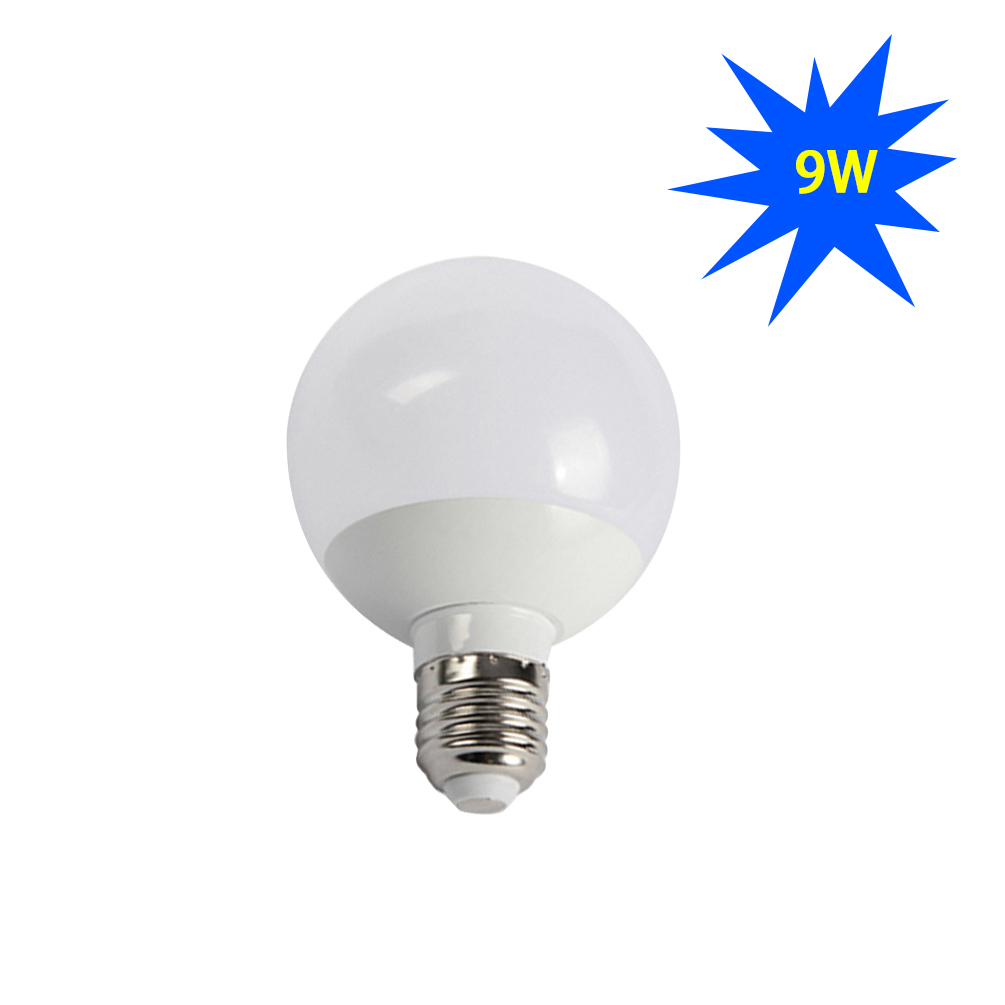 LEDGLE 9W LED Globe Bulb E27 LED Light Bulbs Non-dimmable LED Bulb Daylight White Equal to 90W Traditional Bulb Wide Beam Angle
