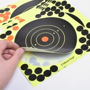 """Image 2 - 50 PCS Adesivo Obiettivi di Ripresa Glow Colpo Reattiva 8 """"Splatter Pistola e Fucile Carta di Destinazione"""