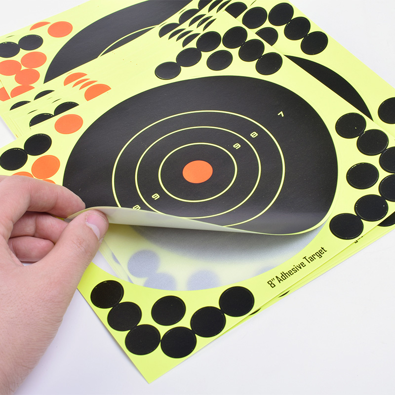 """Image 2 - 50PCS Adhesive Shooting Targets Glow Shot Reactive  8"""" Splatter Gun and Rifle Target Paper-in Paintball Accessories from Sports & Entertainment"""