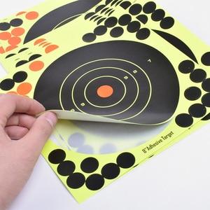 """Image 2 - 50PCS Adhesive Shooting Targets Glow Shot Reactive  8"""" Splatter Gun and Rifle Target Paper"""