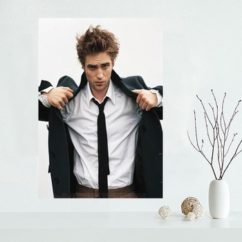 Custom Robert Pattison Poster Wall For Living Room Art Poster Decoration Silk Fabric Bright Smooth No Frame Morden Print Wall image