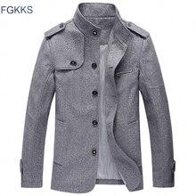 FGKKS nueva marca de chaqueta Casual para hombre 2020 primavera invierno Stand Collar para hombre ropa de abrigo delgada chaqueta a prueba de viento para Hombre Ropa