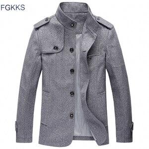 Image 1 - Мужская повседневная куртка FGKKS, ветровка с воротником стойкой, 2019
