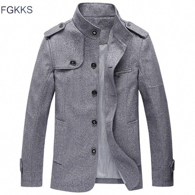 Мужская повседневная куртка FGKKS, ветровка с воротником стойкой, 2019