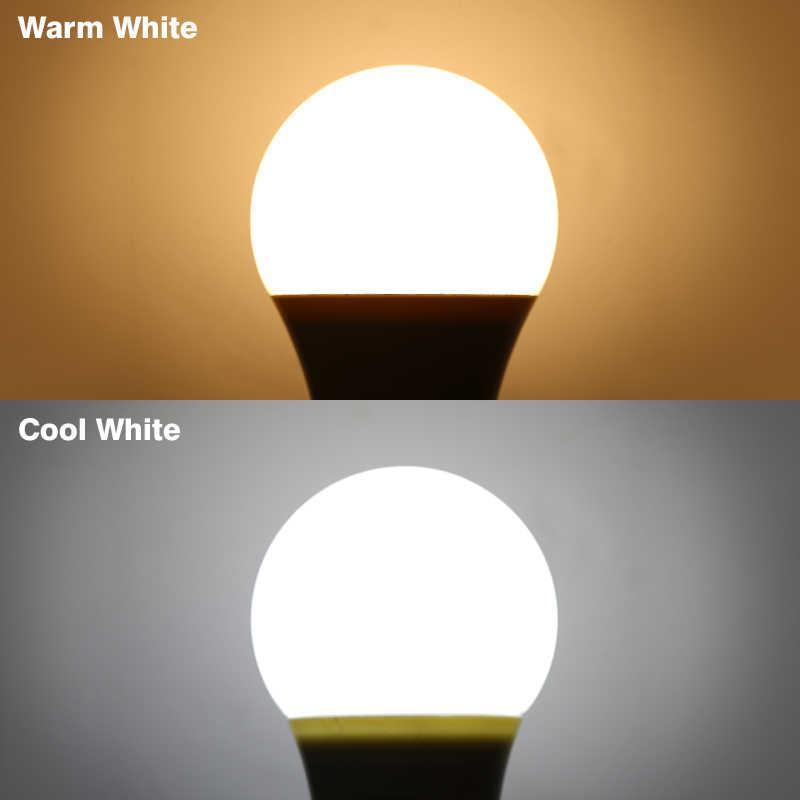 4 sztuk LED żarówka LED lampa zimny ciepła biel AC 220V 3W 5W 7W 9W 12W 15W 18W Lampada Inteligentna żarówka SMD2835 do oświetlenia zewnętrznego