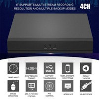 4CH/8CH/16CH DVR AHD NVR HVR Security Digital Video Recorder H.264 With P2P Cloud Function Safer Monitoring System