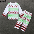 Christmas Baby 2pcs Outfits 2017 Infant Kids Autumn Winter Fashion Santa Claus Pajama Set Unisex Children Boy Clothes Suit