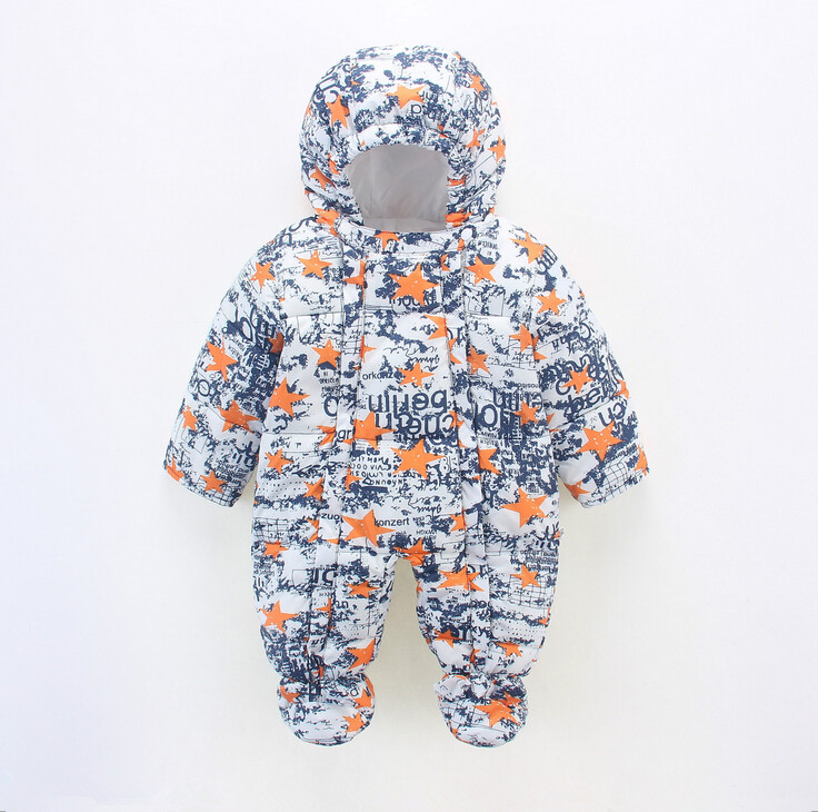 Baby Snowsuit Winter Newborn Baby Rompers Warm Jumpsuit Baby Snow Wear Cotton Thick Romper Kids Outerwear Clothes Infant Costume winter baby snowsuit baby boys girls rompers infant jumpsuit toddler hooded clothes thicken down coat outwear coverall snow wear