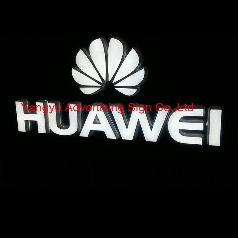 personalizado nome da loja do sinal do telefone movel ao ar livre 3d letras iluminadas