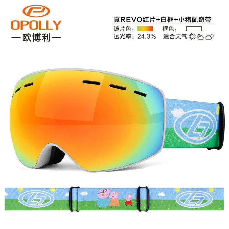 Lunettes de ski pour enfants Double anti-buée sphérique lunettes de ski pour enfants extérieur lunettes de ski de montagne