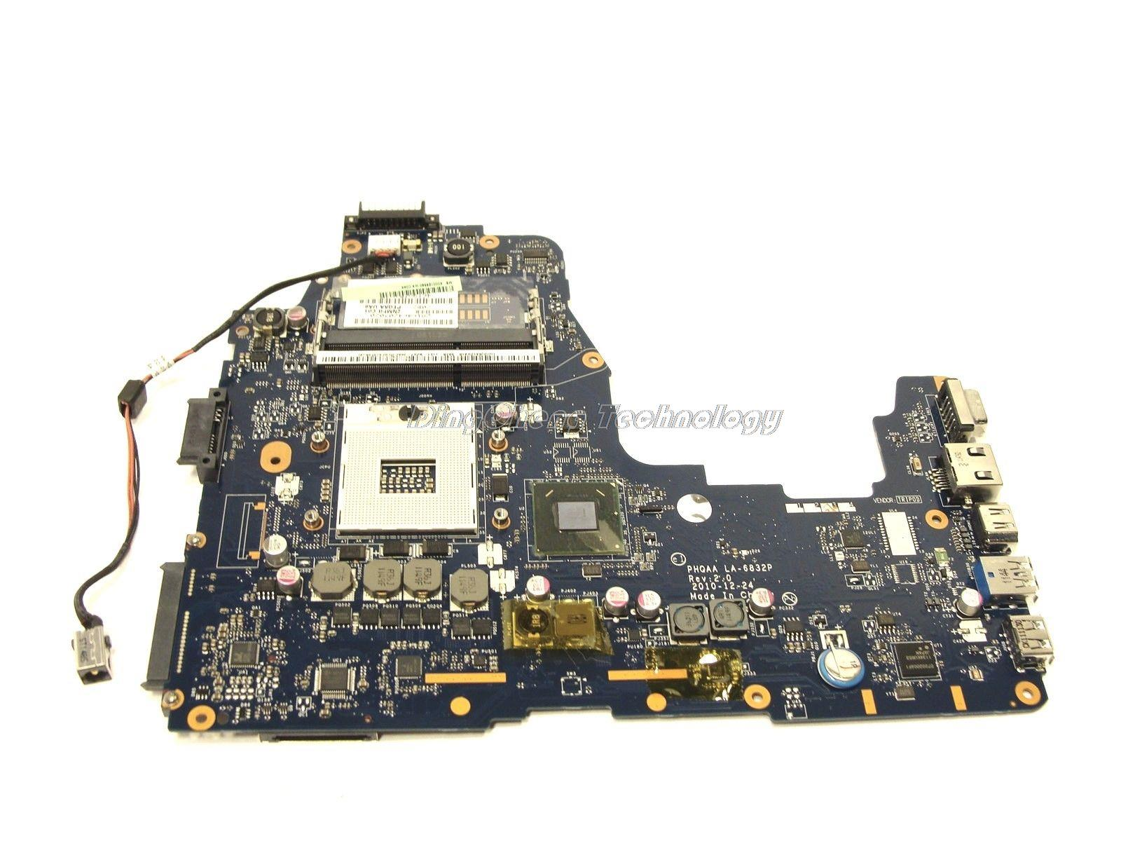 SHELI laptop Motherboard For Toshiba Satellite A660 A665 PHQAA LA-6832P K000125630 Rev 2.0 integrated graphics card