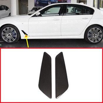 Sợi Carbon Phong Cách ABS Xe Fender Lỗ Thông Hơi Trang Trí Bìa Trim Sticker Phụ Kiện Cho BMW Mới 5 Series G30 2017 2018 xe kiểu dáng