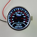 52mm pointer White Back light car motorcycle Racing 12V 0.3A Auto Volt meter Car modification volt gauge Auto gauge  Auto parts