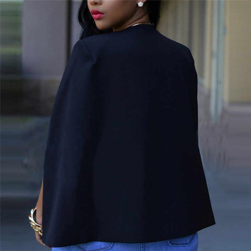 オフィス韓国レディースホワイト黒人女性長袖岬カジュアルビジネスブレザー Ceket 女性コートジャケットブレザーファム 2019