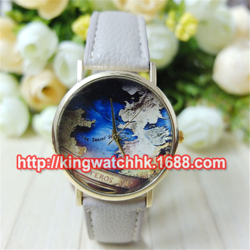 100pcs lot Promotion New hot styles leather watches with world map watches wholesale Unisex alloy fashion