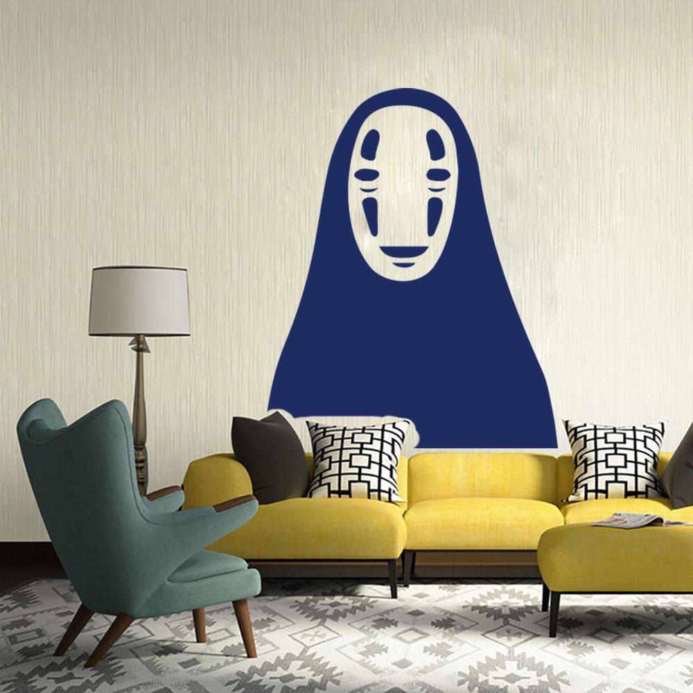 Cartoon No Face Spirited Away Wall Car Laptop Sticker Cute Anime Spirited Away Decal Kids Room Bedroom Vinyl Home Decor