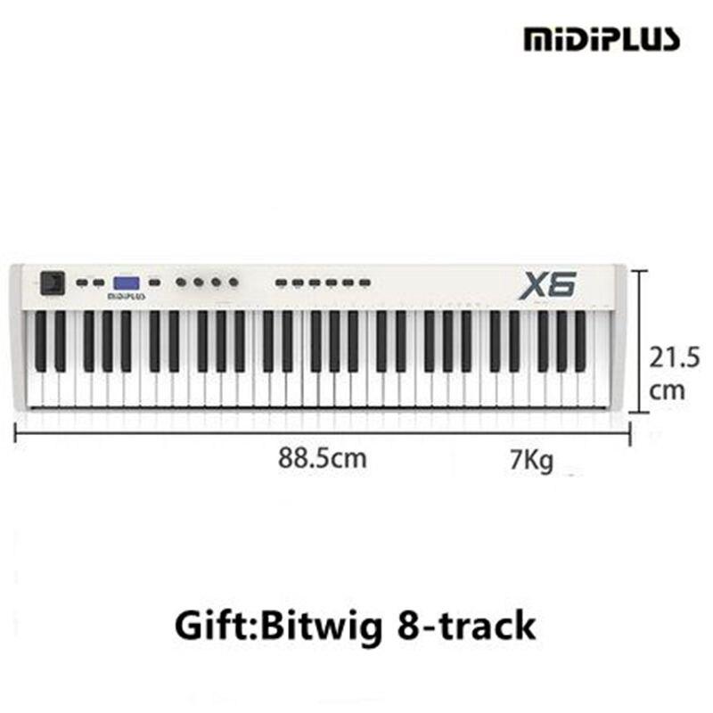 midiplus x6 61key with semi weighted keys usb midi keyboard controller ipad midi musical. Black Bedroom Furniture Sets. Home Design Ideas