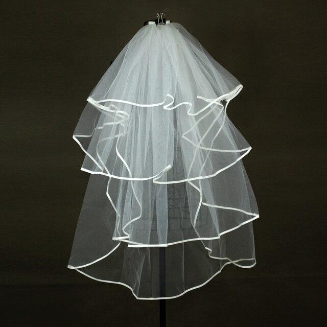 748ce75849 Marca nueva velos de novia Blanco Marfil boda de la princesa accesorios  elegante 4 capas