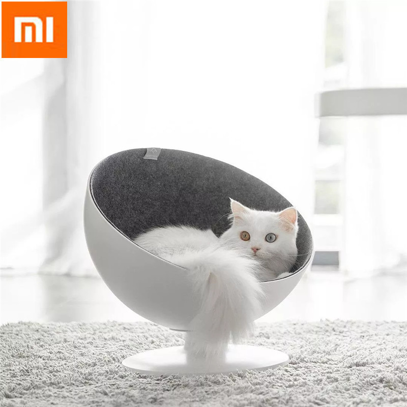 Xiaomi Cat Beds & Mat Pet House Cat Boss Rotational Interaction Cat House Sleeping Funny Pet Bed Fiber Material Cat Supplies
