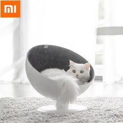 Xiaomi Katze Betten & Matte Pet Haus Katze Boss Dreh Interaktion Katze Haus Schlafen Lustige Haustier Bett Faser Material Katze liefert