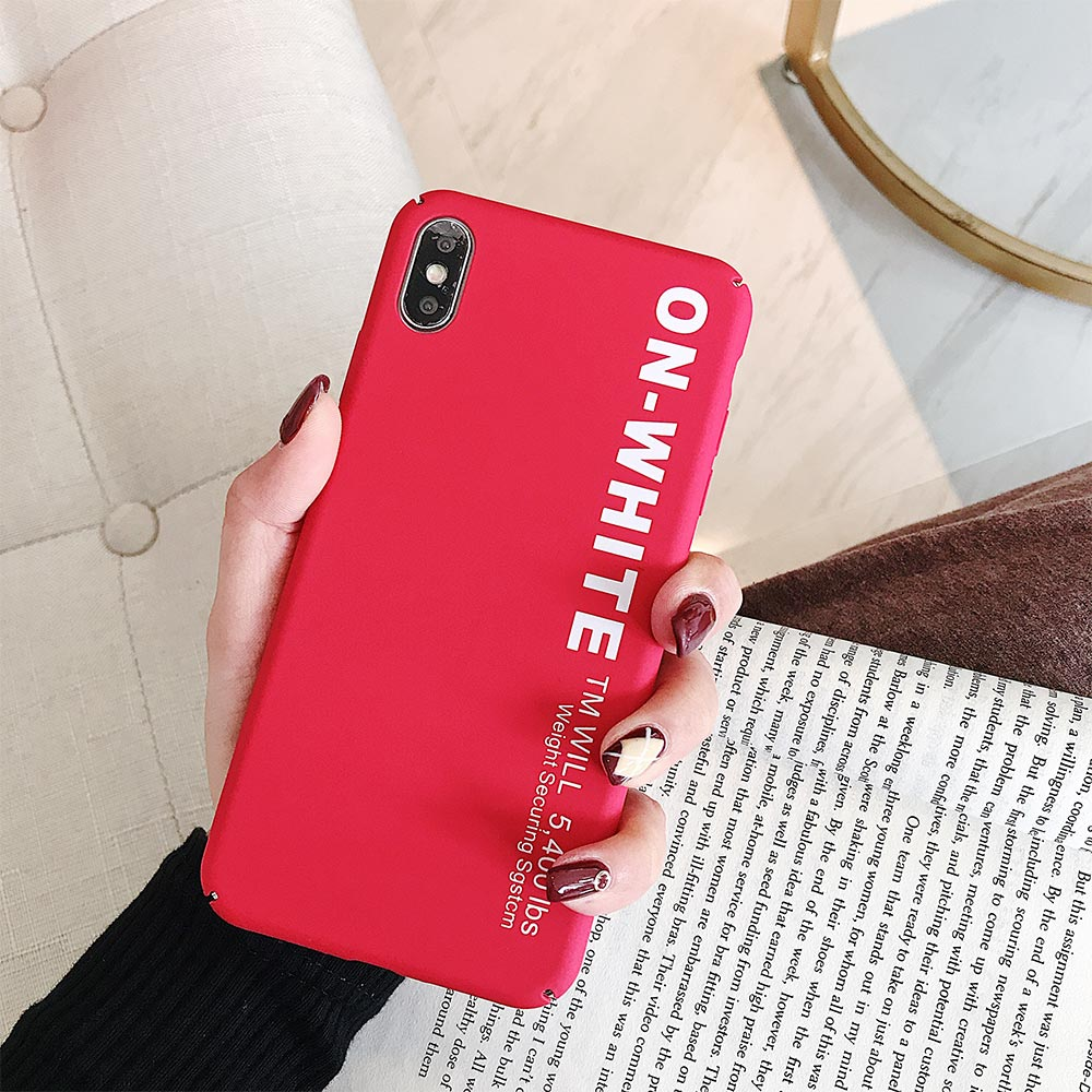 Image 3 - KISSCASE Letter Phone Case For Xiaomi Redmi Note 7 6 5 Pro Pocophone F1 Mi8 Mi A2 Lite 6X 5X A1 Mi9 SE Hard PC Back Cover-in Fitted Cases from Cellphones & Telecommunications