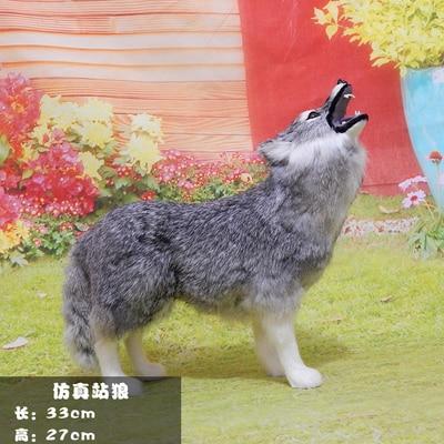Coyote model animal simulation Wolf plush toy specimen handicraft crafts statues sculpture Home wedding decoration dies