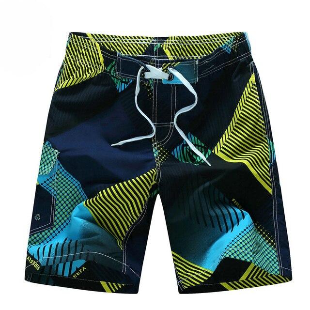 Estilo de verano 2020 hombres pantalones cortos de playa cortos transpirables de secado rápido sueltos Casual Hawaii estampado pantalones cortos Hombre de talla grande 6XL