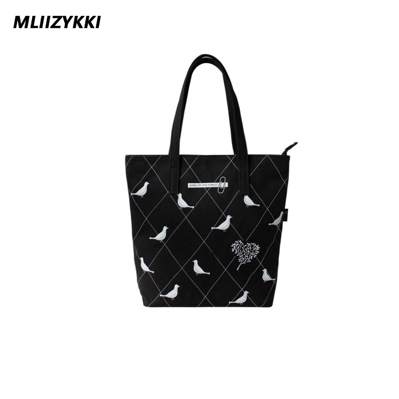 MLIIZYKKI Vintage Casual Women Floral Large Capacity Tote Canvas Shoulder Bag Shopping Bag Beach Bags Casual Tote aosbos fashion portable insulated canvas lunch bag thermal food picnic lunch bags for women kids men cooler lunch box bag tote