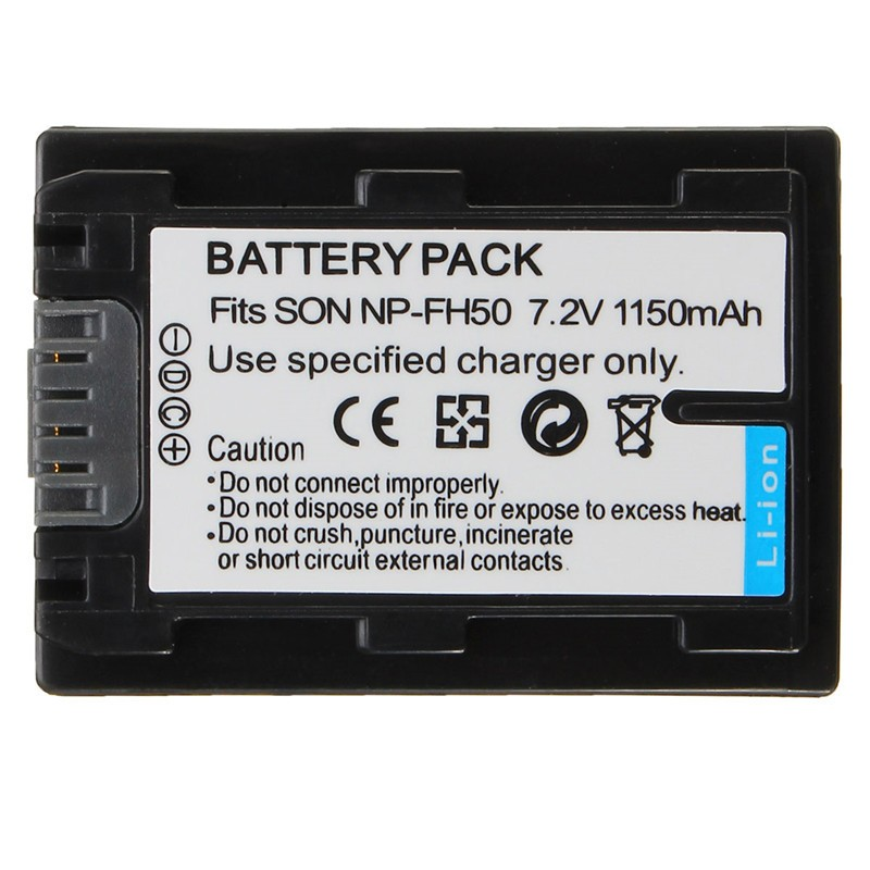 1150mAh Battery for Sony NP-FH50 NP-FH40 NP-FH30 NP-FH60 NP-FH70For Alpha DSLR A230 A330 A380 DSC-HX1 HX200 HDR-TG1E TG3 TG5 TG7 1400mah camera battery for sony np bg1 np fg1 dsc h3 dsc w70 bc csge bc csgd w30
