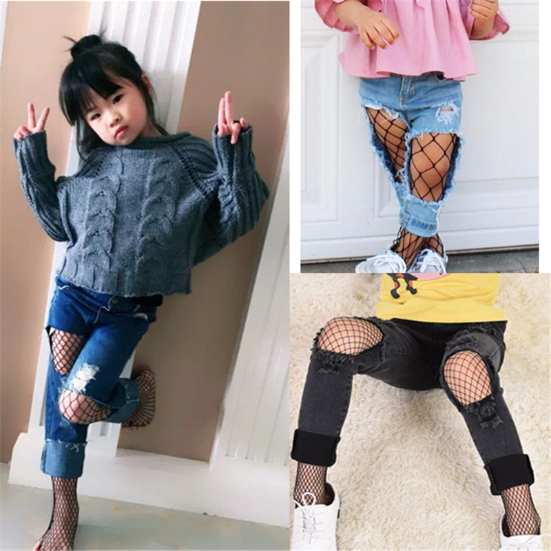 Baby Kids Girl Stockings Baby tights Summer Big Medium Small Fishnet Stockings Hot pantyhose tights for girls Strechable Onesize
