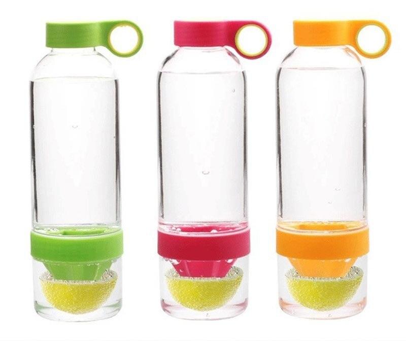 Creative Manual Lemon Juicer Cup Drinkware Plastic Lemon Cup Portable With Leak proof Water Bottle Garrafa