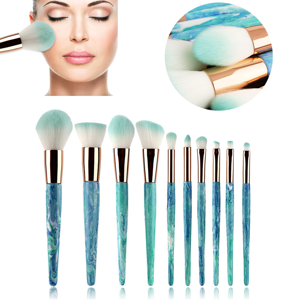 New Hot Blue 6/8/10pcs Professional Makeup Brushes Set Eye Shadow Eyebrow Lip Eye Make Up Brush Comestic Tools WH998