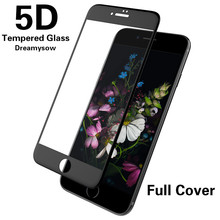 5D Curved Tempered Glass Film For iPhone X 8 Plus 9H Full Cover Screen Protector for iPhone 6S 6 7 for iPhone 6Plus 6sPlus 7Plus