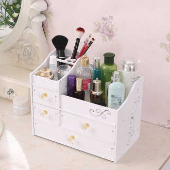 Cosmetic Container Storage Box Organizer Plastic Make Up Brush DIY Waterproof Desktop Storage Boxes Jewelry Case