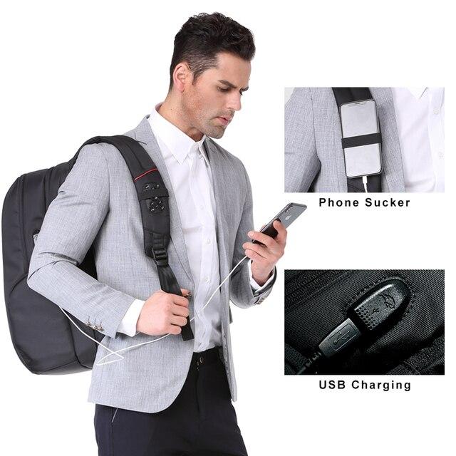 "Kingsons 15""17""  Laptop Backpack External USB Charge Computer Backpacks Anti-theft Waterproof Bags for Men Women 2"