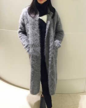 Real Mink Cashmere Long Coat Genuine Mink Cashmere Sweater Warm Custom Big Size Pure True Mink Fur X Long Cardigans TBFP902 - DISCOUNT ITEM  63 OFF Women\'s Clothing