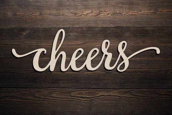 Us 7 59 5 Off Cheers Custom Word Personalized Wood Sign Wooden Name Rustic Word Room Decoration Nursery Wall Hanging Personalized Name Sign In Cake