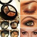 1 caixa de 3 cores moda feminina sombra maquiagem sombra Palette nu nua cosméticos sombra de olho brilho