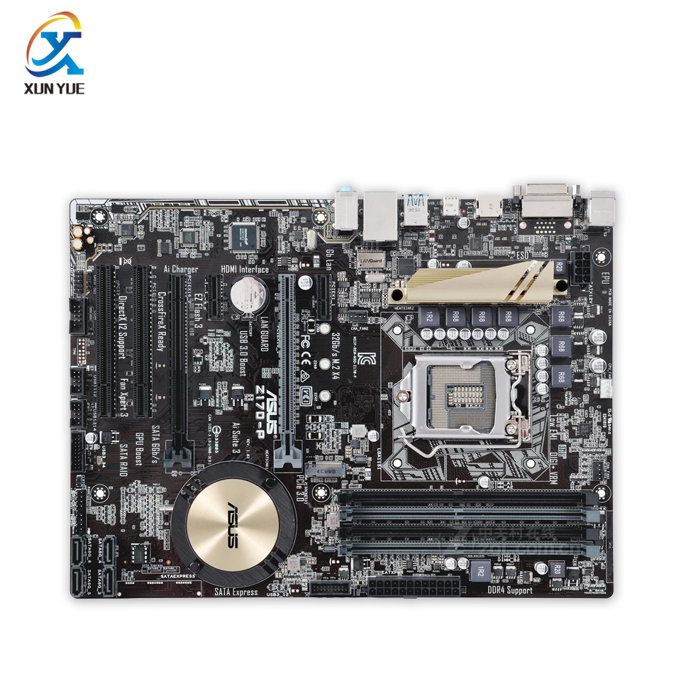 цены  Z170-P Original Used Desktop Motherboard Intel Z170 Socket LGA 1151 i7 i5 i3 DDR4 64G SATA3 USB3.0 ATX