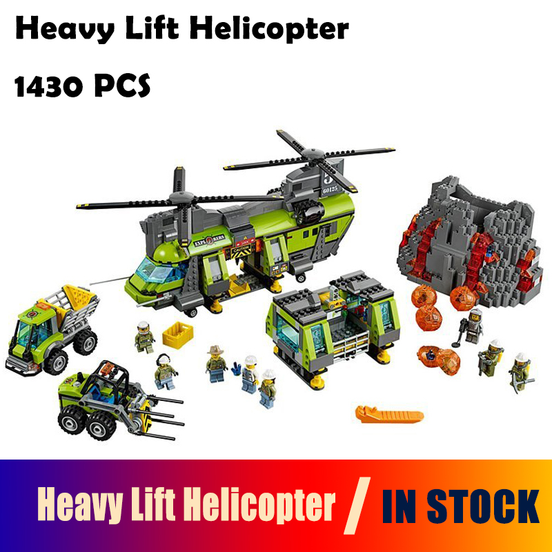Model Building Blocks toys 02087 1430Pcs Heavy Lift Helicopter compatible with lego City 60125 Educational DIY toys hobbies lepin 02012 city deepwater exploration vessel 60095 building blocks policeman toys children compatible with lego gift kid sets