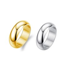 Gold&Silver Color Stainless Steel Mens Fashion  Ring High Polished Mans Wedding